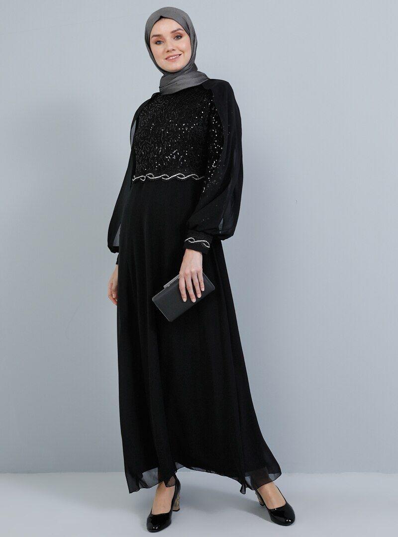 black evening dress model pakaian wanita gaun perempuan