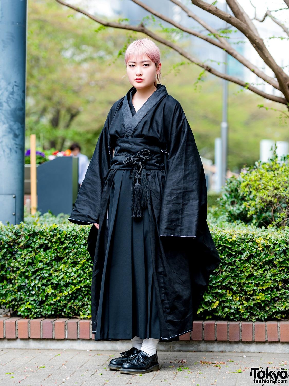 black japanese kimono street style w tricot comme des