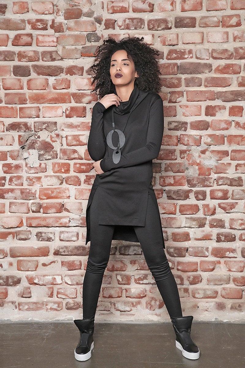 black tunic plus size leggings black leggings loose tunic