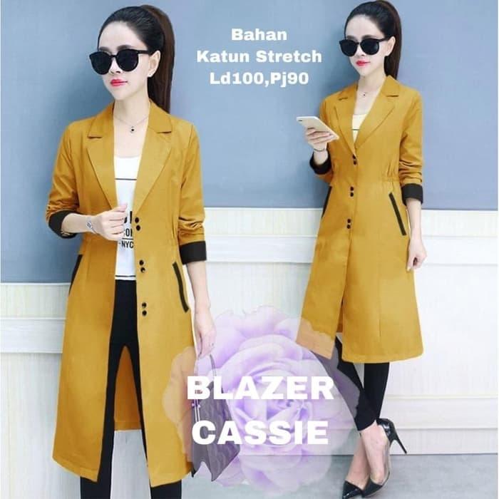 blazer fashion wanita cantik model terbaru ryn fashion