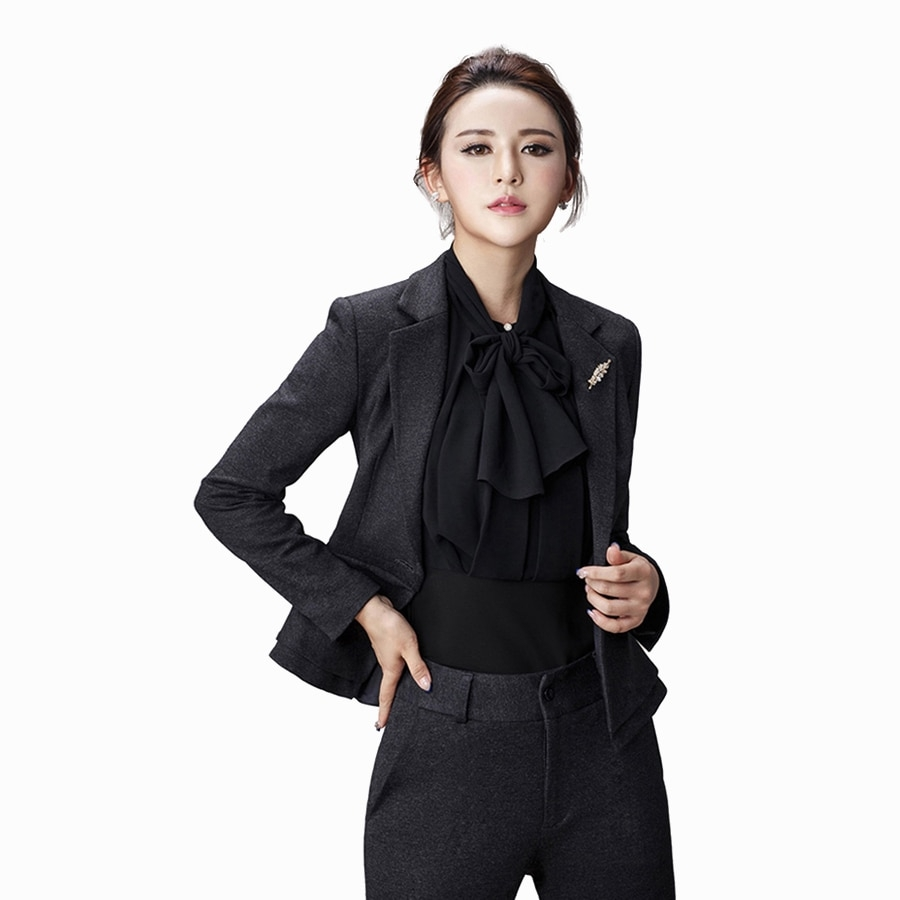 elegant women suits office sets formal slim work wear