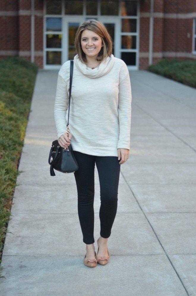 how to wear leggings sweater tunic 660x997 pretty