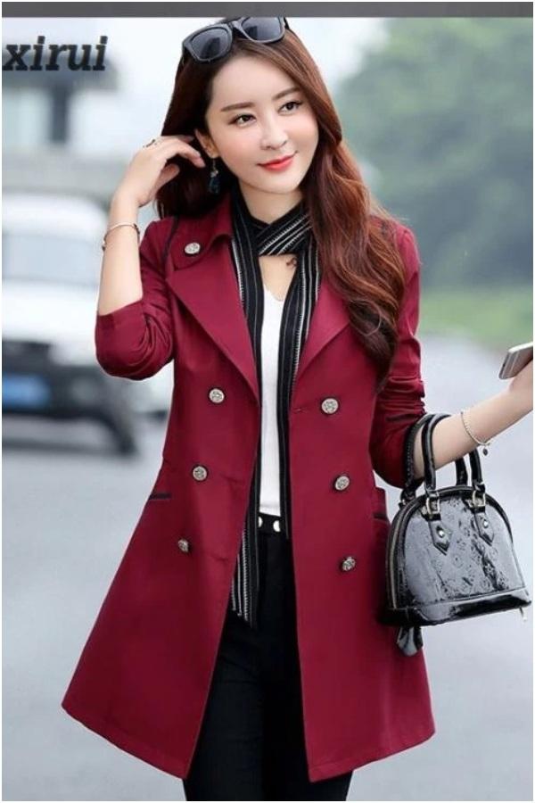jaket blazer wanita long coat import korea busana