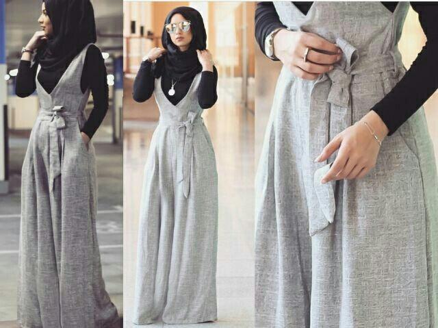 jumpsuit rok kodok setelan hijab modis model terbaru