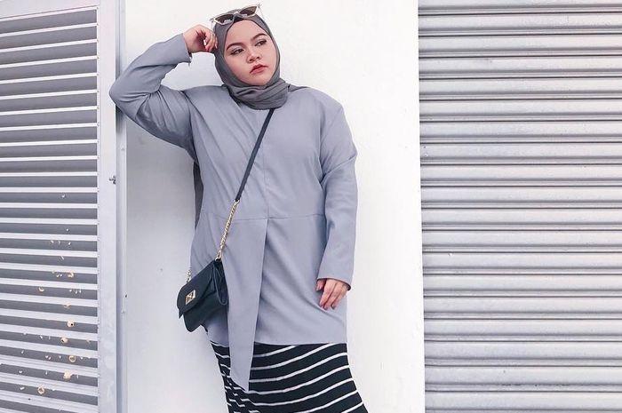 model baju casual hijab untuk wanita gemuk kumpulan