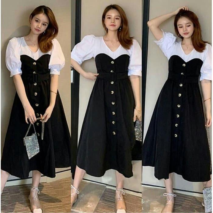 model baju dress pendek wanita modis terbaru ryn fashion