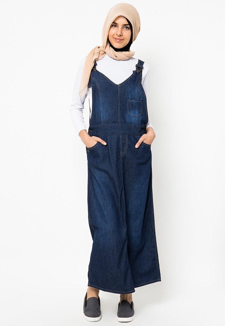 model baju overall kodok muslimah makin populer 1