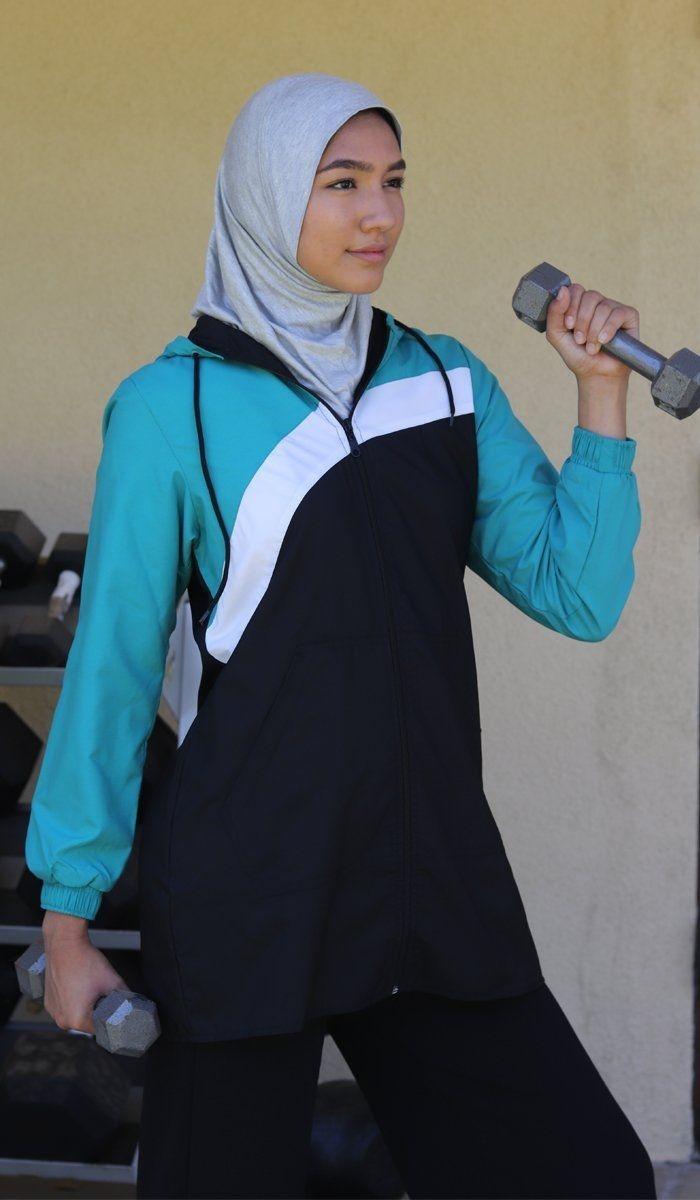 one piece stretch sports hijab gray in 2021 sports