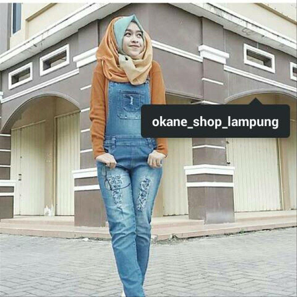 ootd jumpsuit jeans hijab hijab muslimah