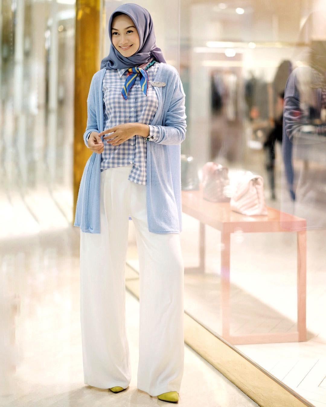 padu padan celana kulot untuk hijabers lovelyajmi