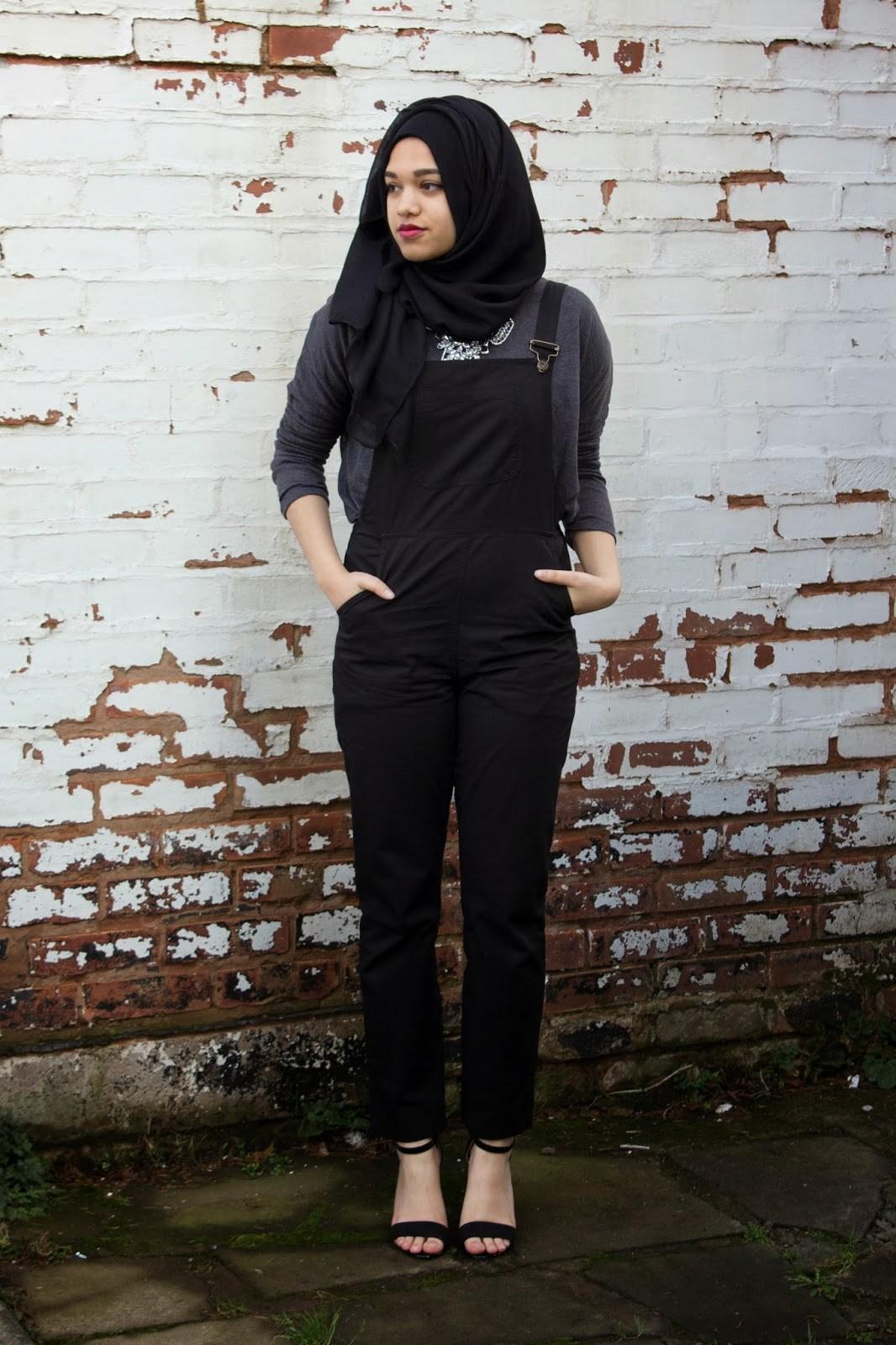 panduan dan ide fashion hijab hitam simple dan casual