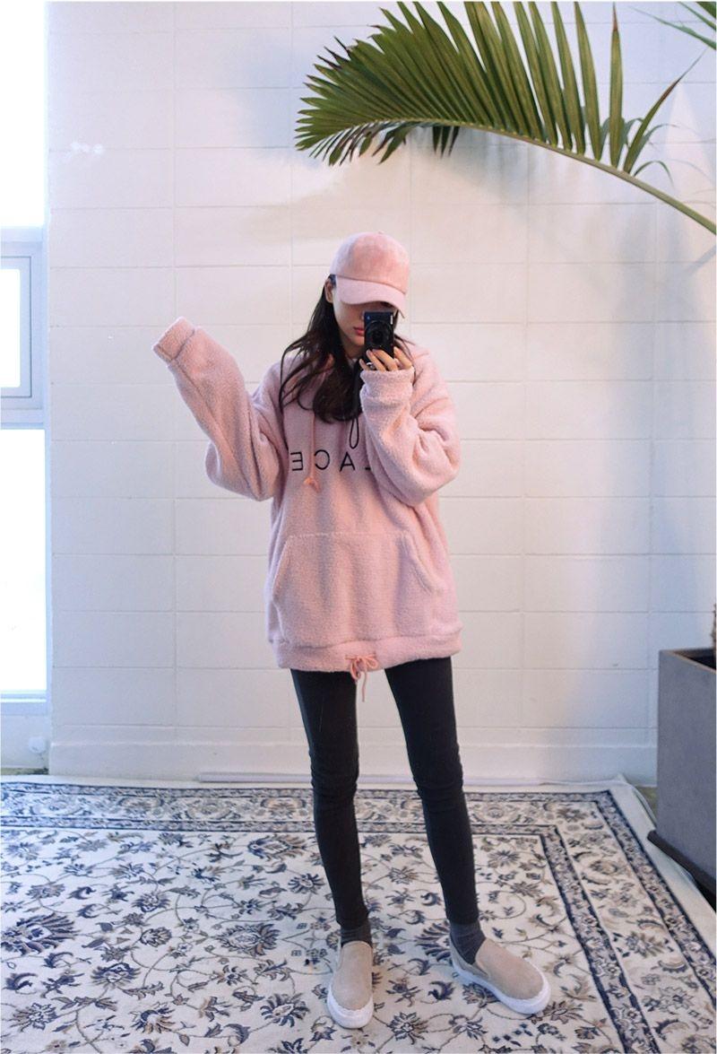 place soft fleece hoodie korean fashion fashionhoodie