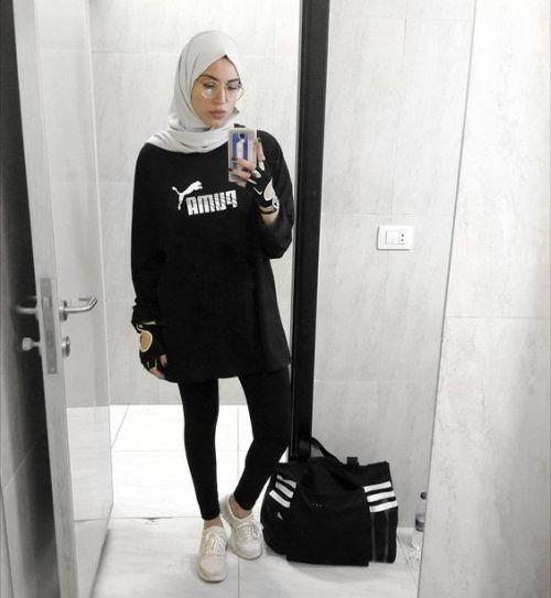 sporty sweatshirts with hijab styles just trendy girls