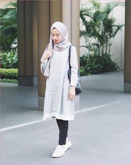 style hijab kemeja putih dan jeans kumpulan model kemeja