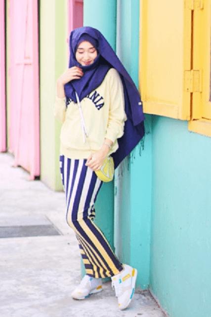 style hijab saat jogging style fashion muslimah