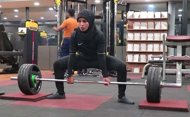 this indian woman bodybuilder with a hijab is breaking