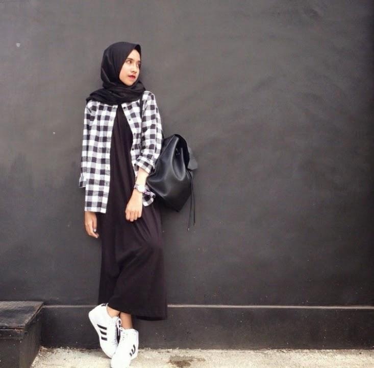 waffinesia style hijab modis dan kekinian dengan kemeja