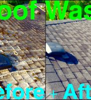 LangleyWindowCleaning – Roof Wash before + After