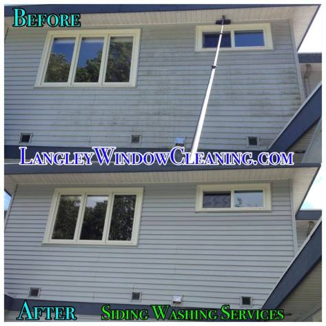 LangleyWindowCleaning.com – Siding Wash