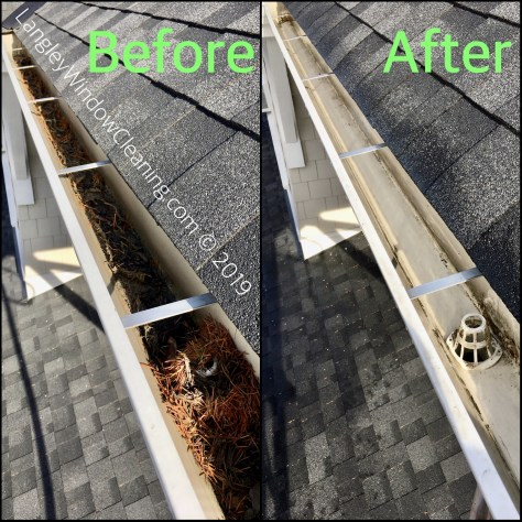 Chilliwack Gutter Cleaning (before + after)