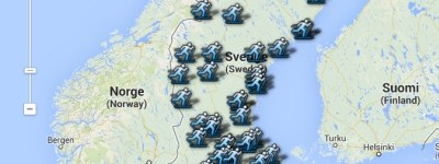 Oversigtskort over svenske seedningsløb til Vasaløbet