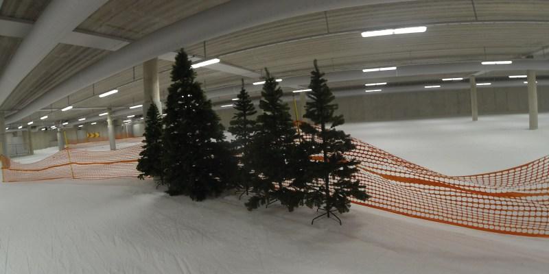 Kunstige grantræer i Skidome i Gøteborg