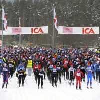 Starten på den korte version af Vasaloppet - KortVasan - er gået i 2011.