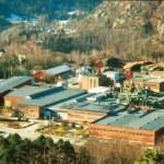 Dotterbolaget Huntonits fabrik i Norge