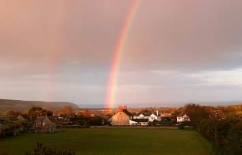 Rainbow over Langton Matravers