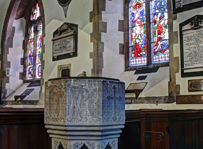 St Mary's, Whitchurch. Font