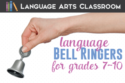 Language Arts Bell Ringers for Middle School