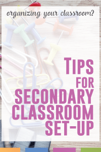 Setting up a secondary classroom? Get started with this quick guide.