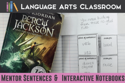Mentor Sentences and Interactive Notebook Ideas