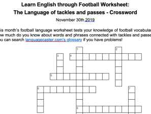 The language of passing and tackling