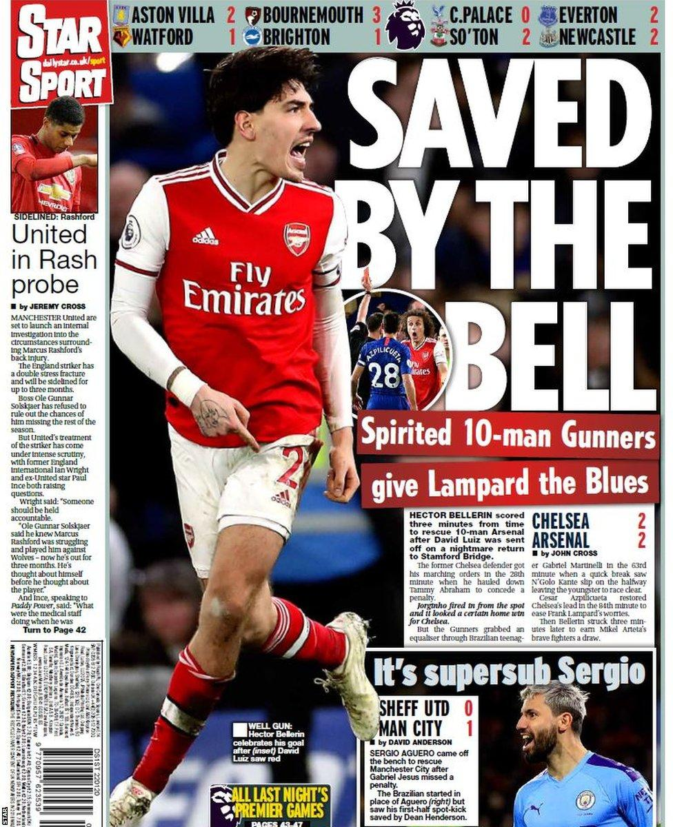 Newspaper Headline: Saved by the bell