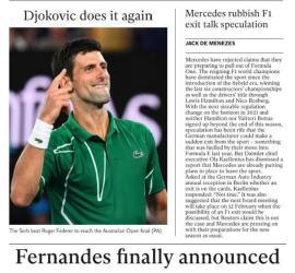 Fernandes finally announced