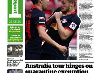 Newspaper Headline: Werner's hat-trick prompts distancing gaffe
