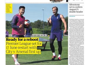 Newspaper Headline: Ready for a reboot