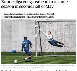Bundesliga gets go-ahead to resume season in second half of May