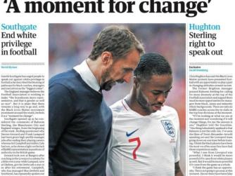 Newspaper Headline: 'A moment for change'