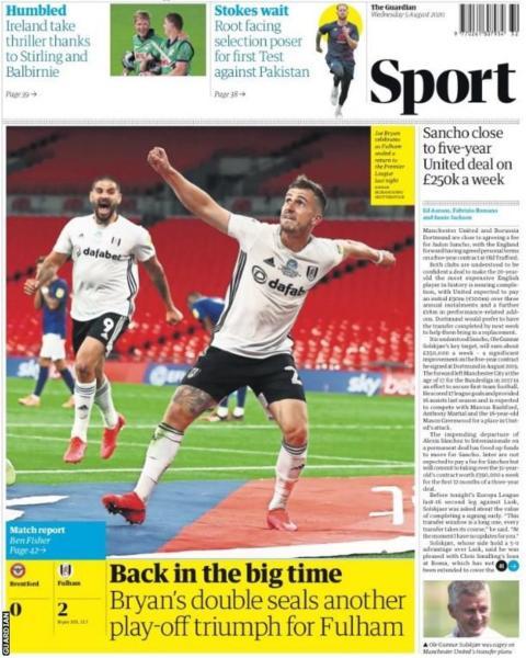 Newspaper Headline: Back in the Big time