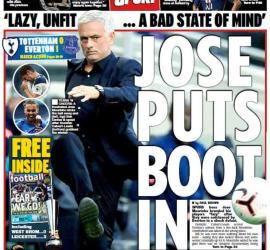 Newspaper Headline: Jose puts the boot in