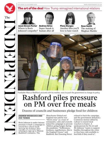 Rashford Piles Pressure on PM over Free Meals