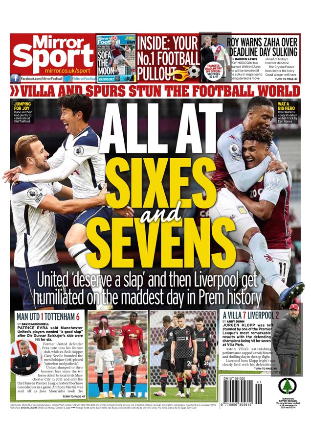 Newspaper Headline: All at sixes and sevens