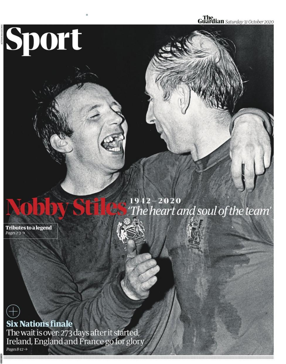 Newspaper Headline: 'Nobby Stiles: The Heart and Soul of the Team'