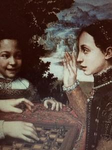 Sofonisba Anguissola particolare di partita a scacchi 1555