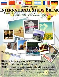 Flier 1st Study Break
