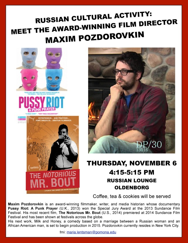 Get-together with Maxim Pozdorovkin Nov 6