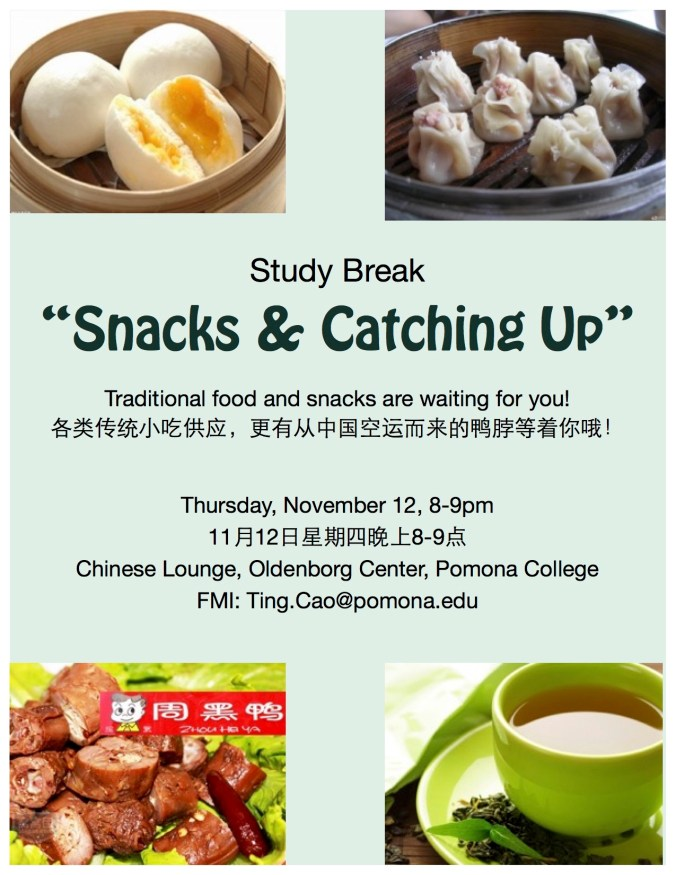 Best Study Break Flier for November
