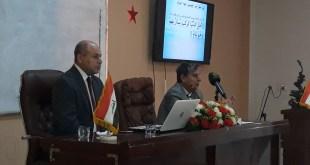 """الأستاذ الدكتور صاحب الحكيم محاضرة في كلية اللغات عن وصايا الإمام علي """"ع """""""